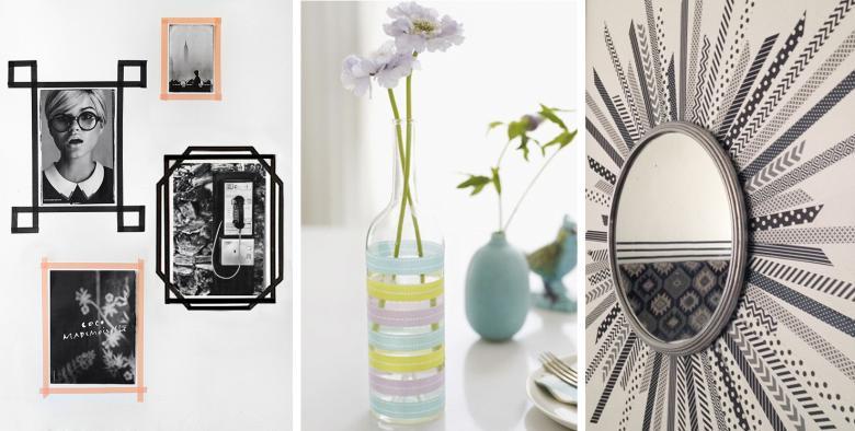 diy le masking tape la tendance d co qui va vous. Black Bedroom Furniture Sets. Home Design Ideas